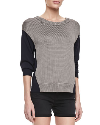 Kira Two-Tone Combo Sweater