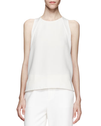 Nadkarni Sleeveless Back-Zip Top & Marianne Straight-Leg Trousers