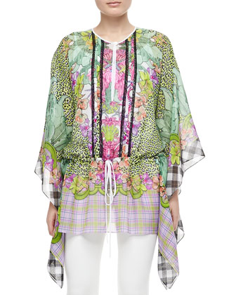 Animal/Floral/Plaid Silk Caftan