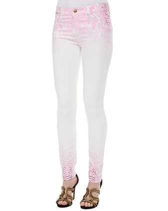Python-Ombre Skinny Jeans