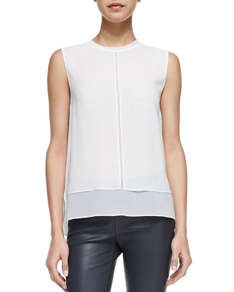 Rayon/Silk Layered Top, Magnolia