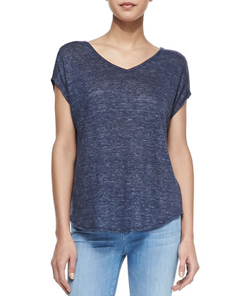 Heathered Cocoon Linen Top