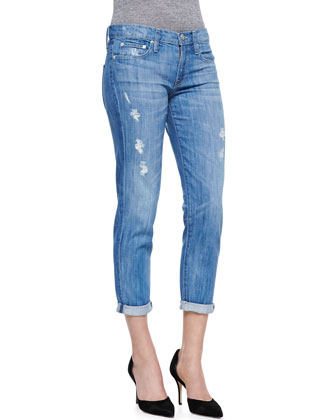 Mason Relaxed Distressed Cuffed Jeans