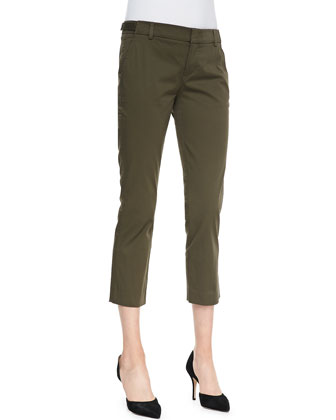 Tab-Waist Cropped Trousers