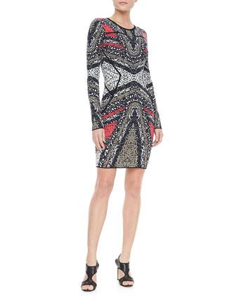 Kenya Long-Sleeve Printed Dress