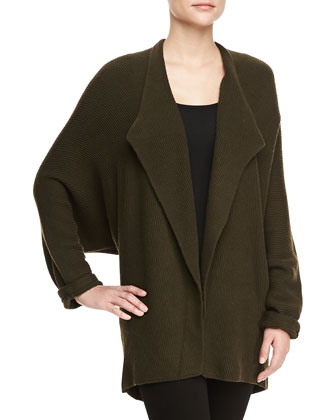 Dolman Long-Sleeve Oversized Shrug
