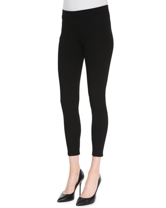 Seamed Ponte Ankle Leggings