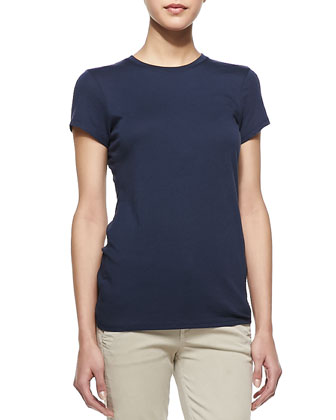 Short-Sleeve Knit Tee, Coastal