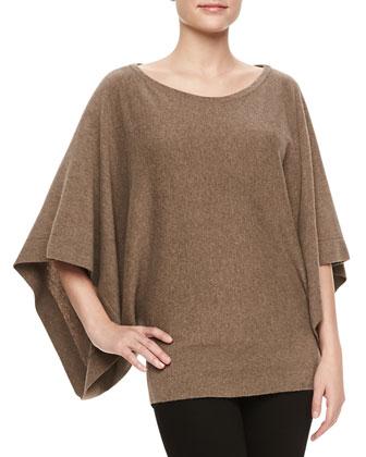 Kimono-Sleeve Cashmere Sweater
