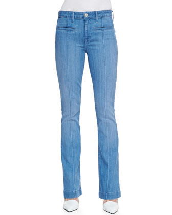 High-Rise Boot-Cut Jeans, Summer Blue