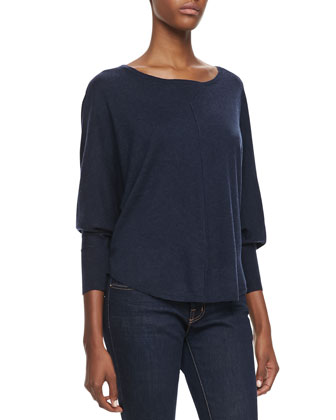 Christelle Dolman Sleeve Sweater, Heather Midnight