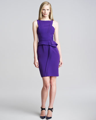 Asymmetric Sleeveless Peplum Dress