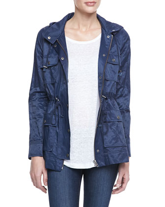 Vera Jane Zip-Front Jacket, Navy