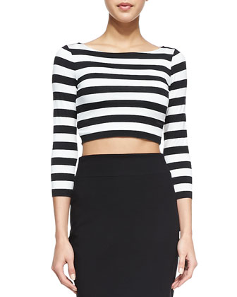 Beach Party Striped Top & Style Me Pencil Skirt