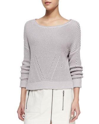 Artesia Boat-Neck Sweater