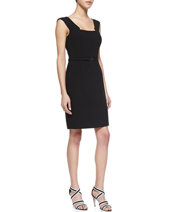 Dana Point Crepe Sleeveless Dress