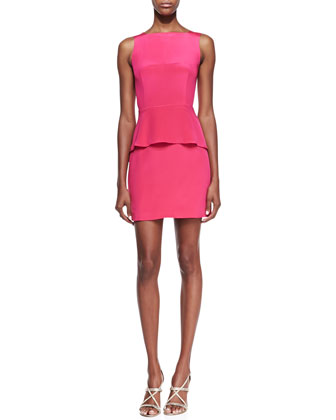 Stam Silk Back-Cutout Dress