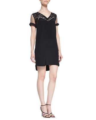 Lorelei Silk Lace High-Low Hem Dress