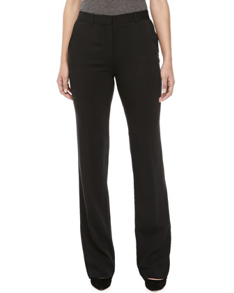 Boot-Cut Pants, Nero