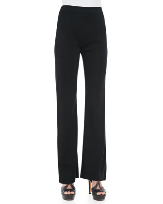 Boot-Cut Pants, Black