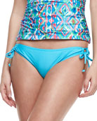 Tie-Side Swim Bottom, Azure