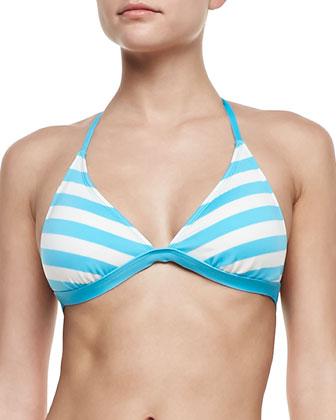 Cabana-Stripe Classic Halter Top & Swim Bottom