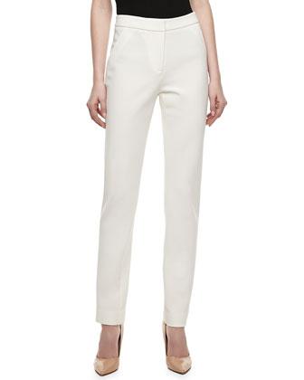 Techno Jersey Skinny Pants, Ivory