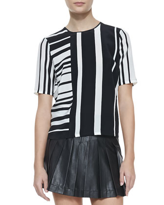 Gizi Striped Silk Blouse