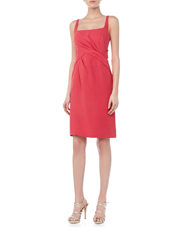 Womens Scoop Neck Sleeveless Dress, Strawberry   J. Mendel   Strawberry (2)