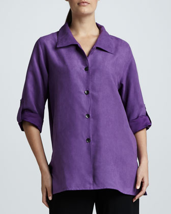 Sueded Big Shirt, Petite