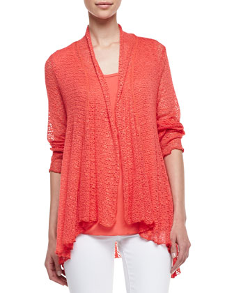 Suzy Crochet Cardigan Twin Set, Poppy