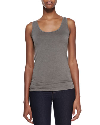 Sleeveless Scoop-Neck Tank
