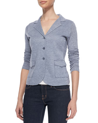 Linen and Silk Blend Blazer