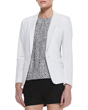 Slash Single-Button Blazer
