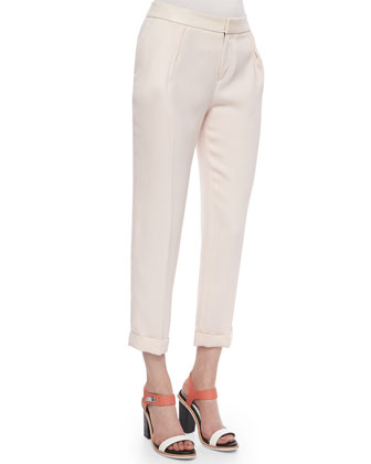 Mo Cuffed Crepe Pants