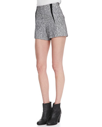 Florencia High-Waist Tweed Shorts