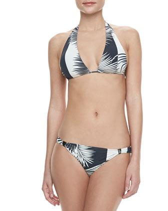 Printed Reversible Halter Bikini
