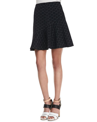 Leyna Dotted Flared Skirt