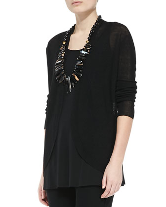 Open-Front Linen Cardigan, Women's