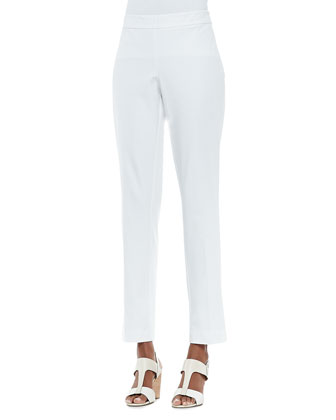 Organic Stretch Slim Twill Trousers