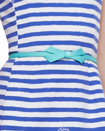 Briella Striped Ponte Dress, Grosgrain Bow-Tie Belt & Riley Printed ...