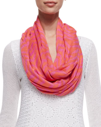 Riley Infinity Printed Scarf, Cheeky Monkey