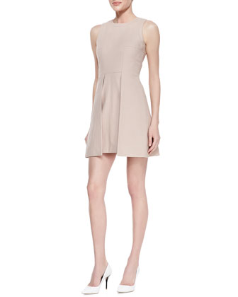 Sleeveless Paneled Overlap Dress