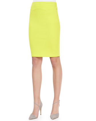 Body Conscious Contour Skirt, Lime