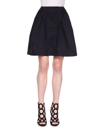 Tiered Cropped Party Top & Suspended A-Line Skirt