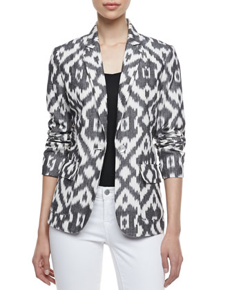 Ikat One-Button Jacket
