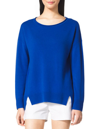 Drop-Sleeve Cashmere Sweater