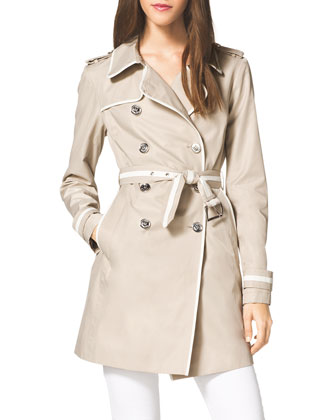 Piped Lightweight Trench Jacket