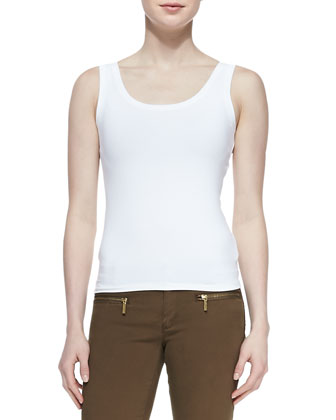 Scoop-Neck Slim Tank