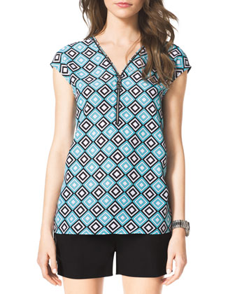 Zip-Trim Blouse